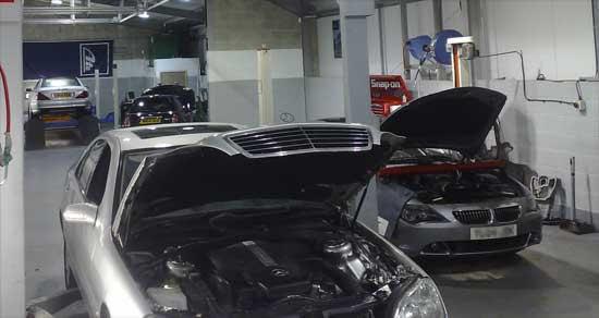 AMG Cheshire Ltd - inside garage